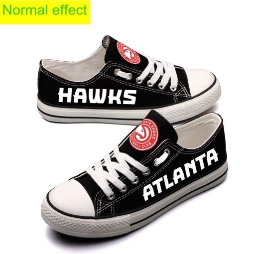 Atlanta Hawks Limited Luminous Low Top Canvas Sneakers