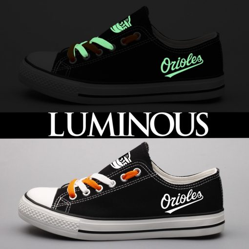 Baltimore Orioles Limited Luminous Low Top Canvas Sneakers