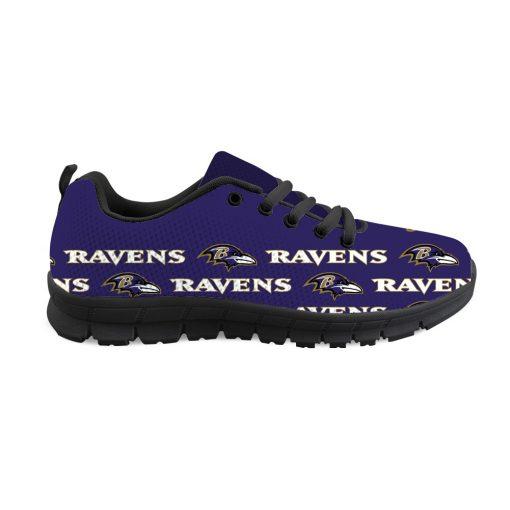 Baltimore Ravens Custom 3D Print Running Sneakers