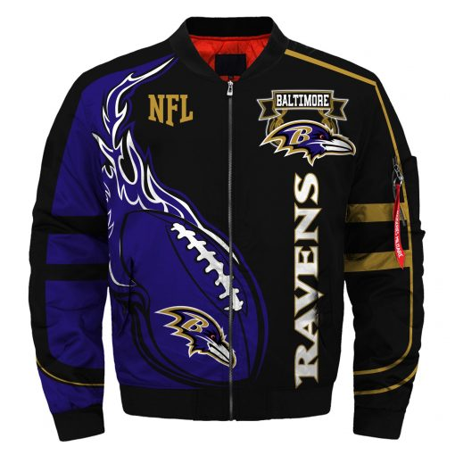 Baltimore Ravens Fans Air Force One Flight Jacket