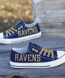Baltimore Ravens Limited Low Top Canvas Sneakers