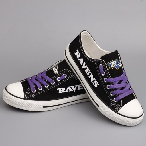 Baltimore Ravens Limited Fans Low Top Canvas Sneakers