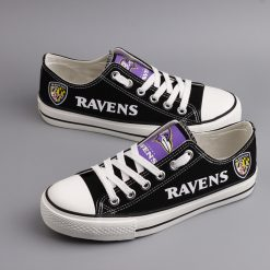 Baltimore Ravens Limited Print Fans Low Top Canvas Sneakers