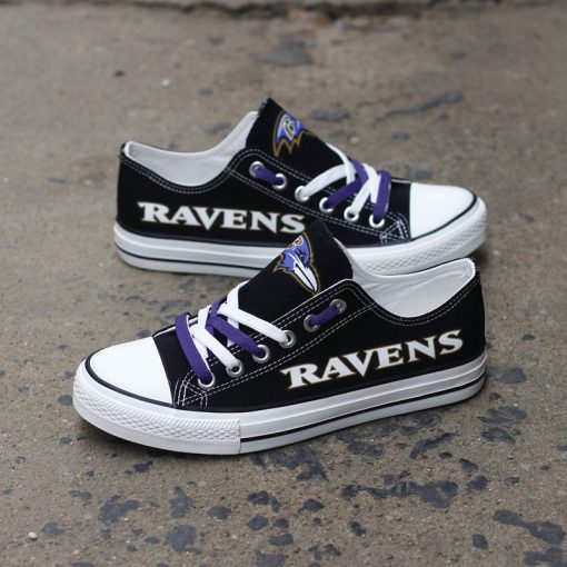 Baltimore Ravens Limited Print Low Top Canvas Sneakers