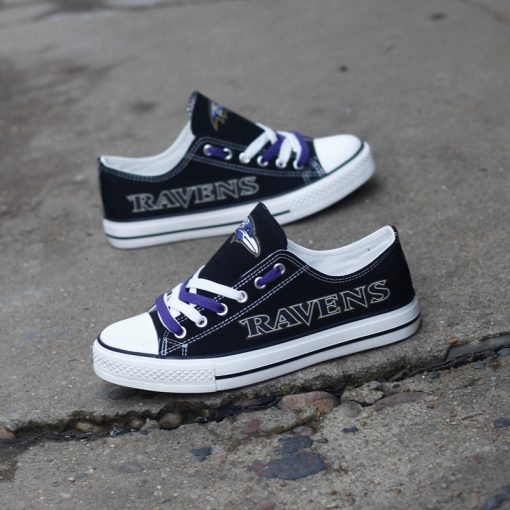 Baltimore Ravens Limited Low Top Canvas Shoes Sport Sneakers