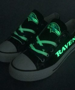 Baltimore Ravens Limited Print Luminous Low Top Canvas Sneakers