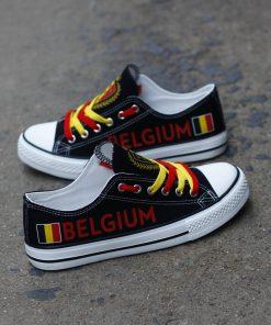 Belgium National Team Low Top Canvas Sneakers