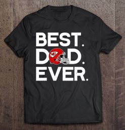 Best Dad Ever Kansas Streetwear Harajuku City 100 Cotton Men S Tshirt Chiefs Version Tshirts