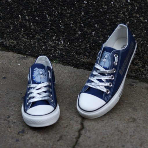 Bosqueville Bulldogs Limited High School Students Low Top Canvas Sneakers