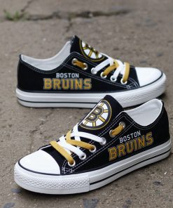 Boston Bruins Limited Low Top Canvas Sneakers