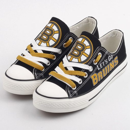 Boston Bruins Limited Low Top Canvas Shoes Sport