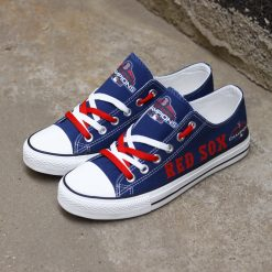 Boston Red Sox Low Top Canvas Sneakers