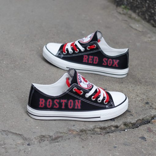 Boston Red Sox Low Top Canvas Shoes Sport