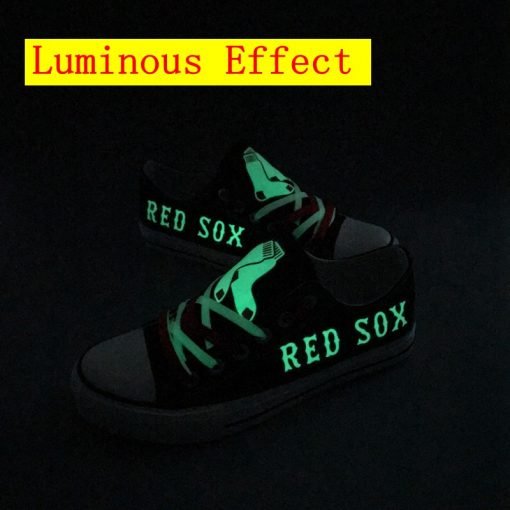 Boston Red Sox Limited Luminous Low Top Canvas Sneakers