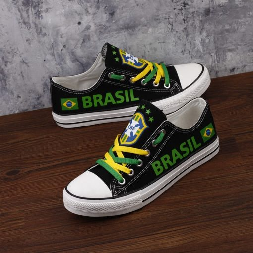 Brazil National Team Low Top Canvas Sneakers
