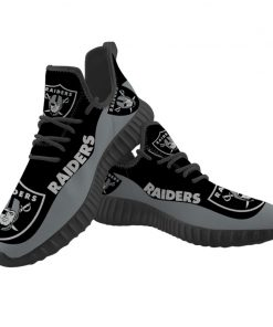Men Women Running Shoes Customize Oakland Raiders