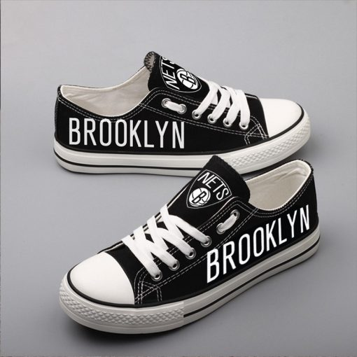 Brooklyn Nets Limited Fans Low Top Canvas Sneakers