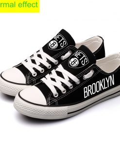 Brooklyn Nets Limited Luminous Low Top Canvas Sneakers
