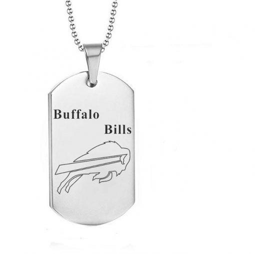 Buffalo Bills Engraving Tungsten Necklace