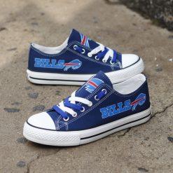 Buffalo Bills Low Top Canvas Sneakers