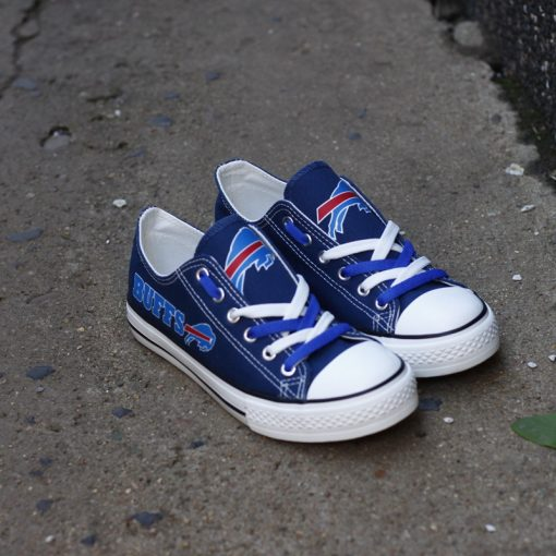 Buffalo Bills Limited Print Fans Low Top Canvas Sneakers
