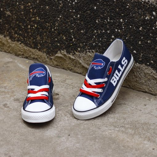 Buffalo Bills Limited Low Top Canvas Sneakers