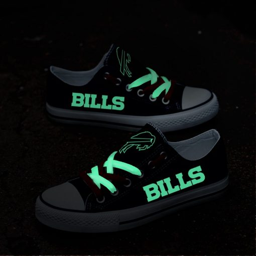 Buffalo Bills Limited Luminous Low Top Canvas Sneakers