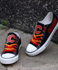 Calgary Flames Limited Low Top Canvas Sneakers