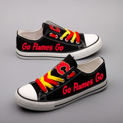 Calgary Flames Limited Low Top Canvas Shoes Sport
