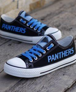 Carolina Panthers Low Top Canvas Sneakers