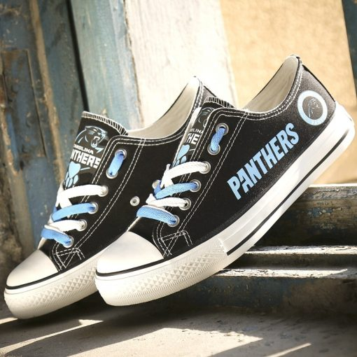 Carolina Panthers Limited Print Low Top Canvas Sneakers