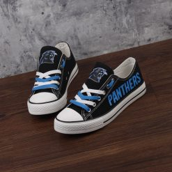 Carolina Panthers Limited Print Fans Low Top Canvas Sneakers