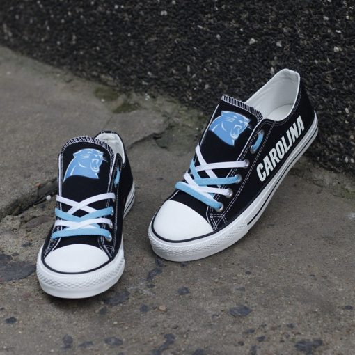 Carolina Panthers Limited Print Luminous Low Top Canvas Sneakers