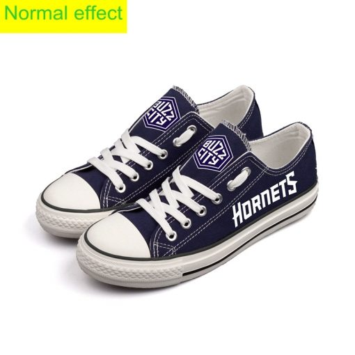 Charlotte Hornets Limited Luminous Low Top Canvas Sneakers