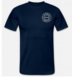 Chicago Fire Tv T Shirt Firefighter T Shirt 2 Side Brand Tshirt Homme Tees Print T