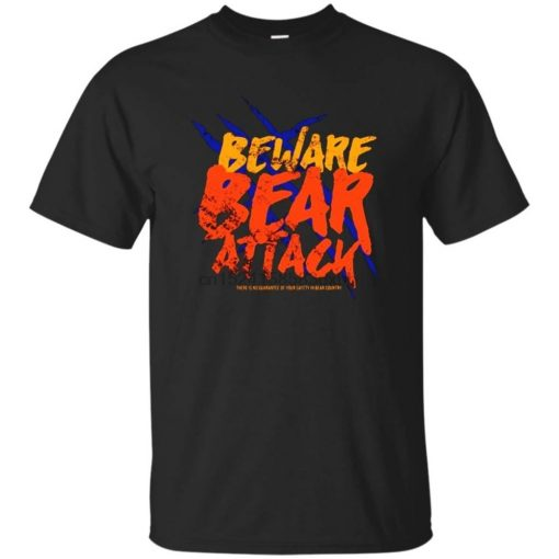 Chicago Footballer Beware Bear Attack T Shirt