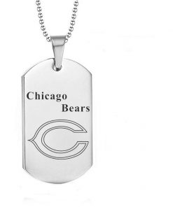 Chicago Bears Engraving Tungsten Necklace