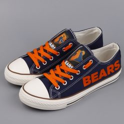 Chicago Bears Limited Low Top Canvas Sneakers