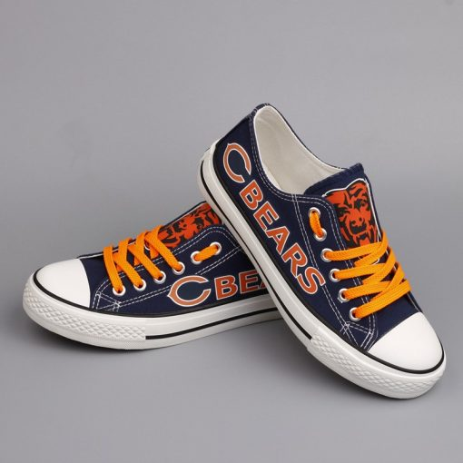 Chicago Bears Limited Print Low Top Canvas Shoes Sport