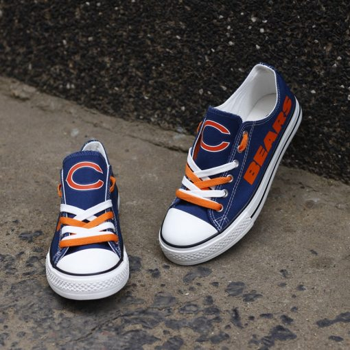Chicago Bears Low Top Canvas Sneakers