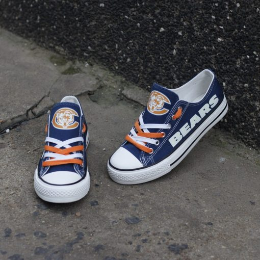 Chicago Bears Luminous Low Top Canvas Sneakers