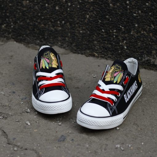Chicago Blackhawks Limited Low Top Canvas Sneakers