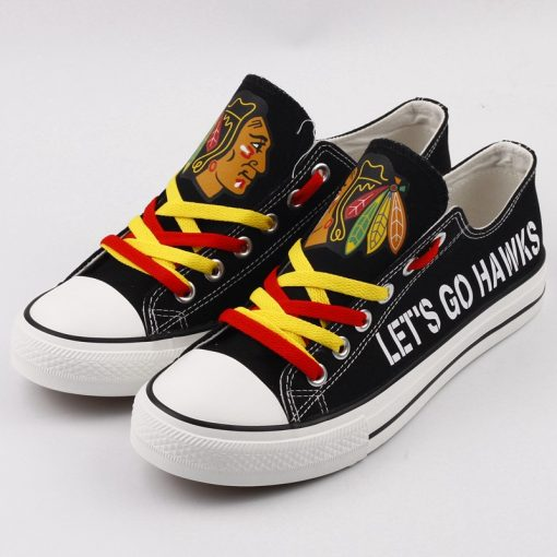 Chicago Blackhawks Limited Low Top Canvas Shoes Sport
