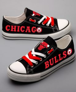 Chicago Bulls Limited Fans Low Top Canvas Sneakers