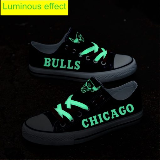 Chicago Bulls Limited Luminous Low Top Canvas Sneakers
