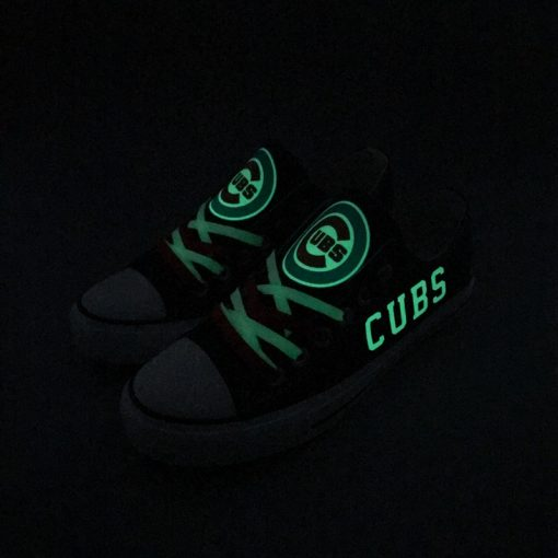 Chicago Cubs Low Top Canvas Sneakers
