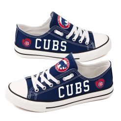 Chicago Cubs Low Top Canvas Shoes Sport
