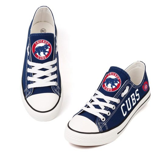 Chicago Cubs Low Top Canvas Shoes Sport
