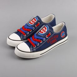 Chicago Cubs Limited Low Top Canvas Sneakers