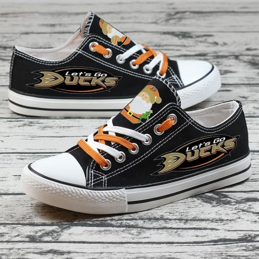 Christmas Anaheim Ducks Limited Low Top Canvas Sneakers